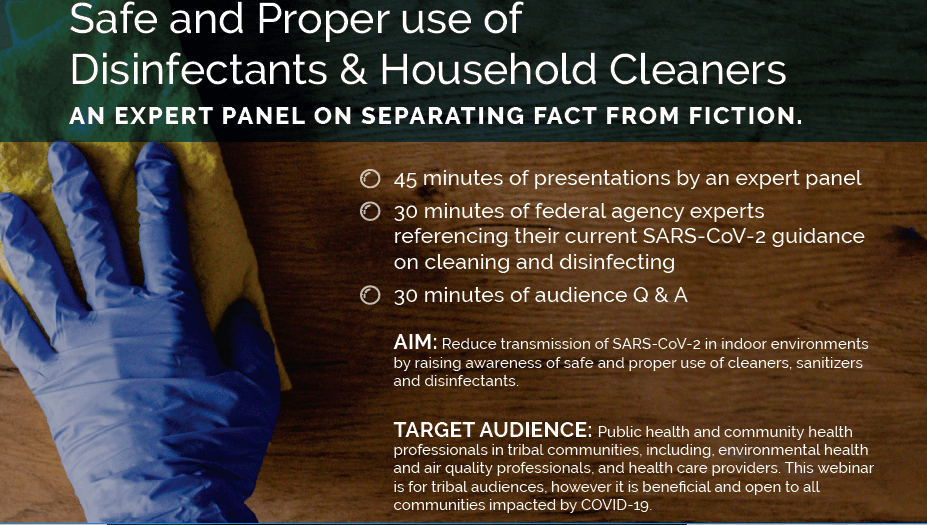 COVID-19 WEBINAR – SAFE CLEANING & DISINFECTING OF INDOOR ENVIRONMENTS, FOR TRIBAL AND IMPACTED COMMUNITIES