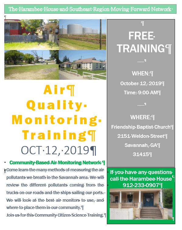 Air Quality Monitoring Training